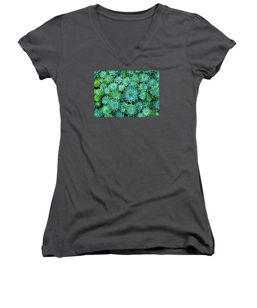 Echeveria 2 Women's V-Neck (Athletic Fit)