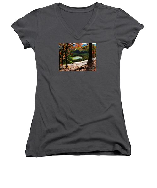 Echo Lake, New Hampshire Women's V-Neck (Athletic Fit)