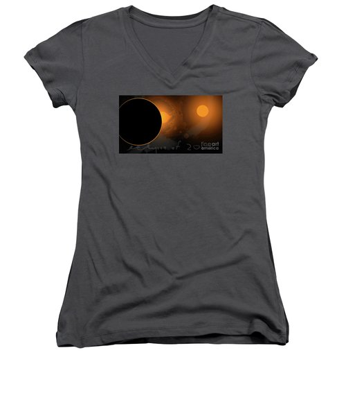 Eclipse Of 2017 W Women's V-Neck (Athletic Fit)