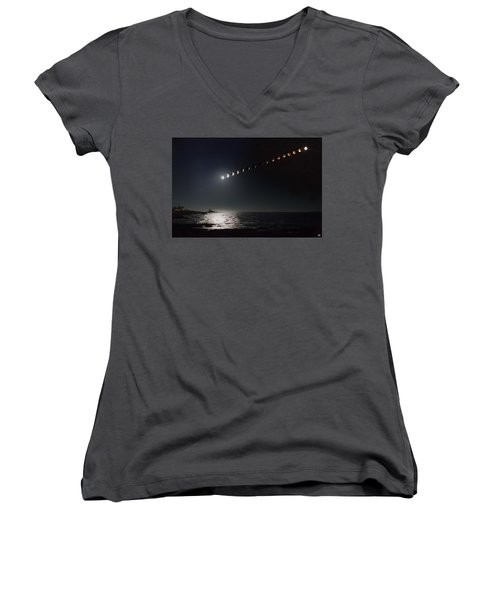 Eclipse Of The Moon Women's V-Neck