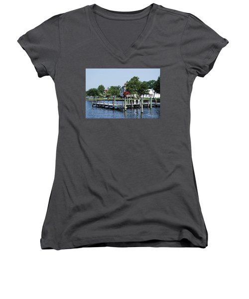 Edenton Waterfront Women's V-Neck T-Shirt