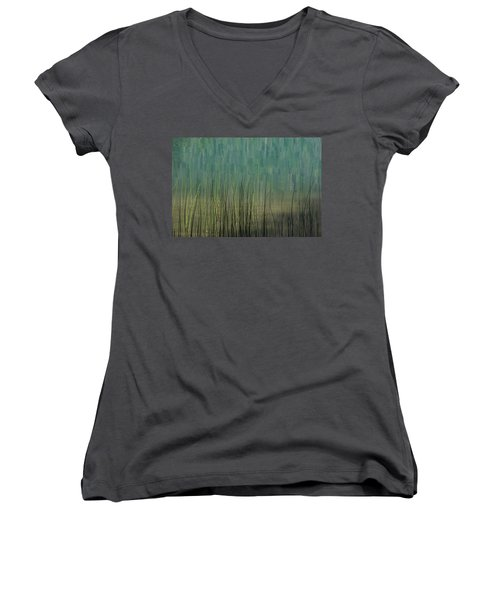 Edge Of The Lake - 365-262 Women's V-Neck T-Shirt (Junior Cut) by Inge Riis McDonald