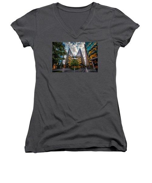 Edges Women's V-Neck T-Shirt (Junior Cut) by Giuseppe Torre