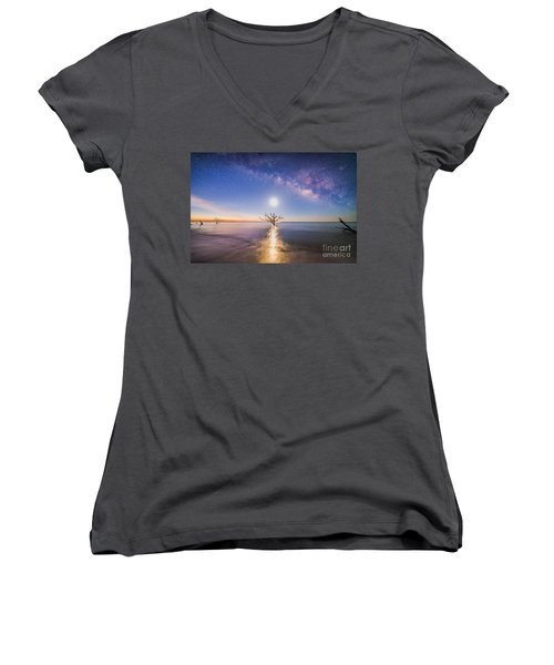 Edisto Island Milky Way Women's V-Neck (Athletic Fit)