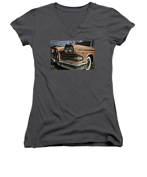 Edsel Ford's Namesake Women's V-Neck (Athletic Fit)