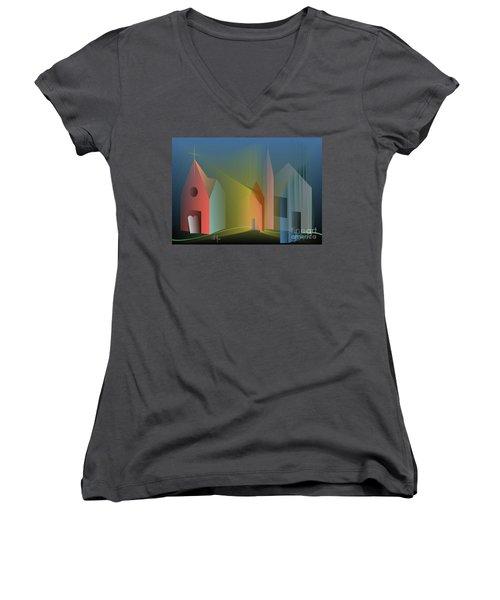 Ego Sum Via Veritas Et Vita Women's V-Neck T-Shirt