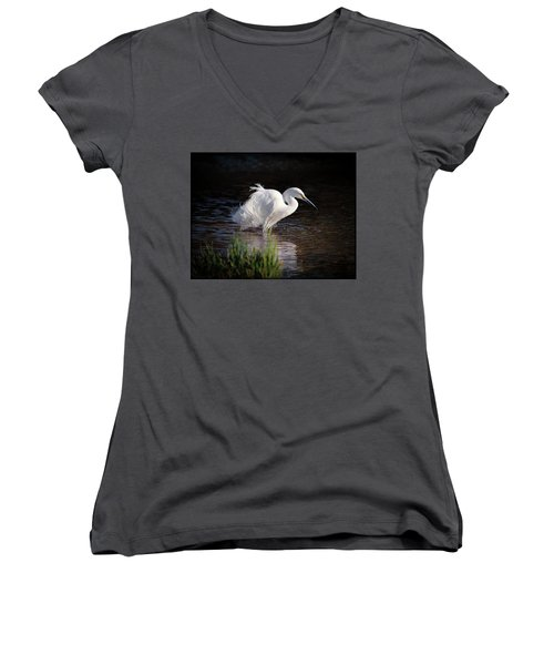 Egret Women's V-Neck