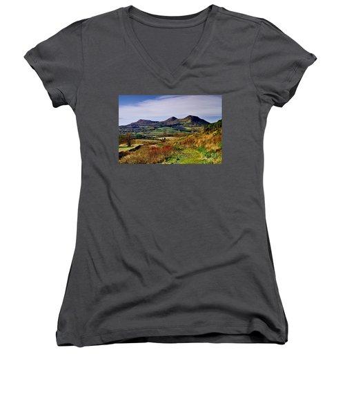 Eildon Hills Borders Scotland Women's V-Neck