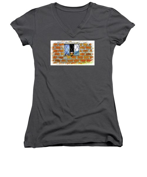 El Altar Kid 872 Women's V-Neck T-Shirt