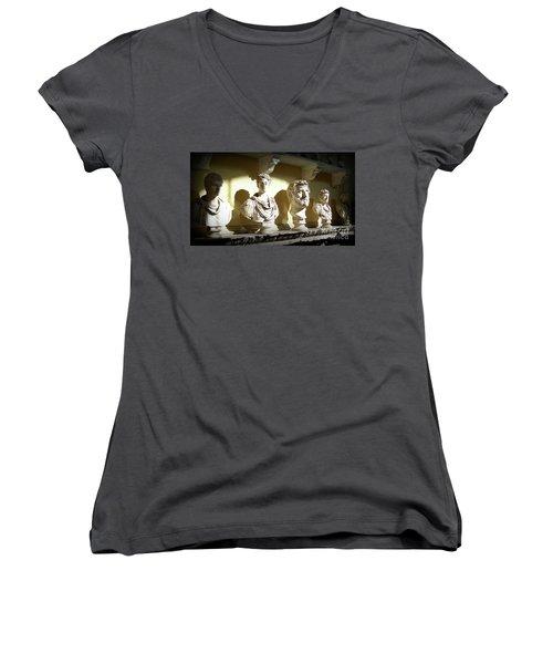 Elder Statesmen Women's V-Neck T-Shirt (Junior Cut) by Susan Lafleur