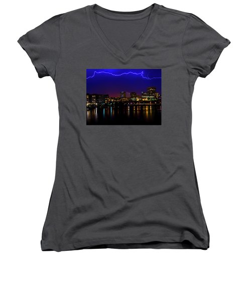 Electric Blue Women's V-Neck