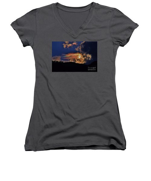 Women's V-Neck T-Shirt (Junior Cut) featuring the photograph Electric Rainbow by Craig Wood