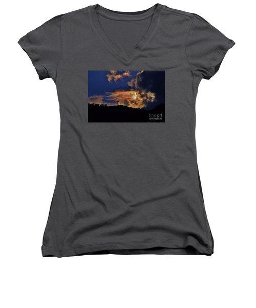 Electric Rainbow Women's V-Neck T-Shirt