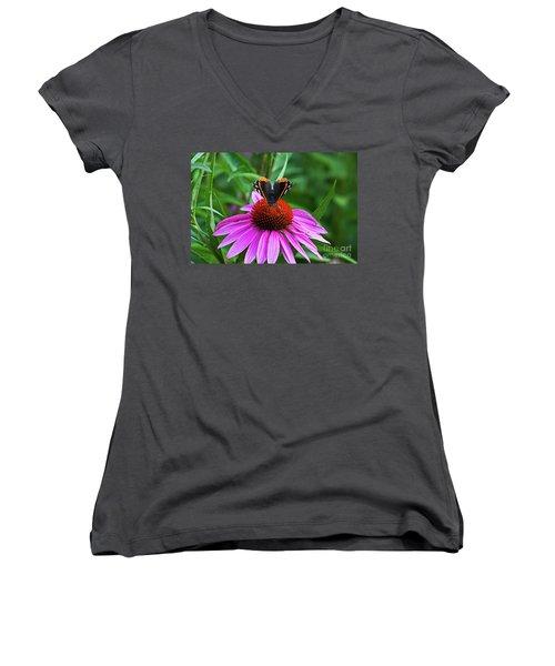 Elegant Butterfly Women's V-Neck