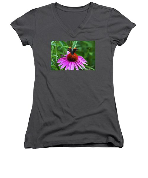 Elegant Butterfly Women's V-Neck (Athletic Fit)