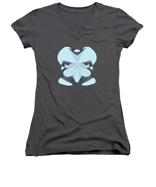 Elephant In The Room Women's V-Neck T-Shirt (Junior Cut) by Cathy Harper