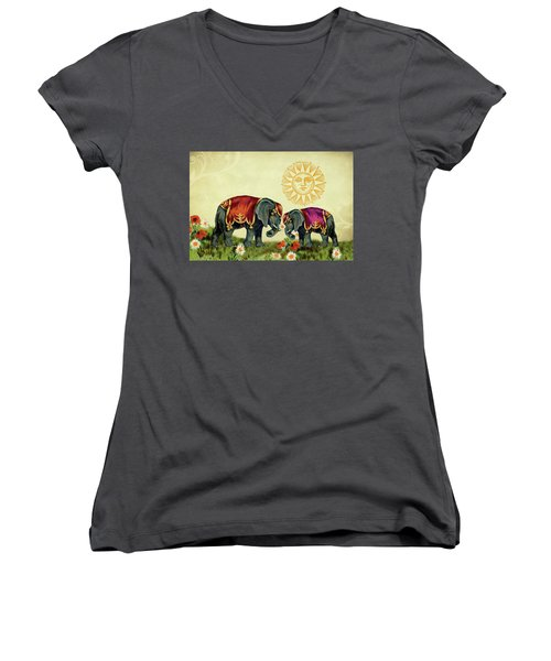 Elephant Love Women's V-Neck