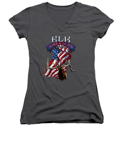 Elk America's Legend V2 Women's V-Neck (Athletic Fit)