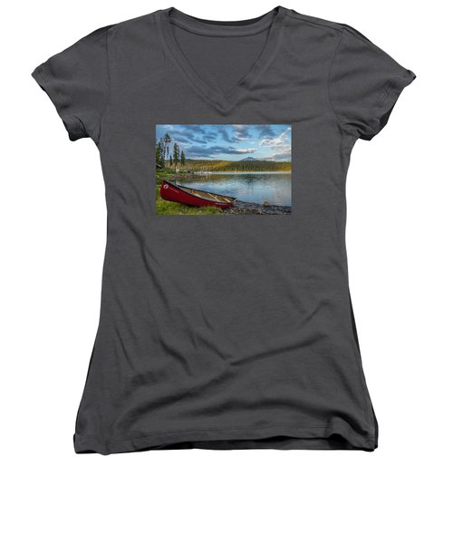 Elk Beach Memories Women's V-Neck