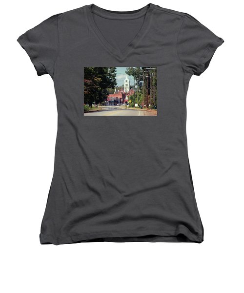 Ellaville, Ga - 2 Women's V-Neck T-Shirt