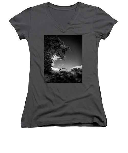 Women's V-Neck T-Shirt featuring the photograph Embedded by Alan Raasch