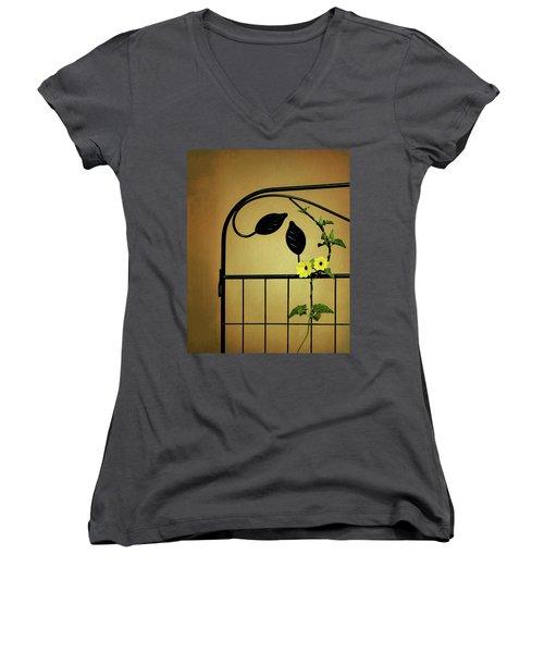 Women's V-Neck T-Shirt (Junior Cut) featuring the photograph Embrace by Tom Mc Nemar