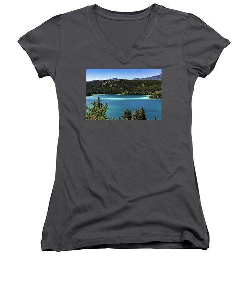 Emerald Lake 2 Women's V-Neck T-Shirt