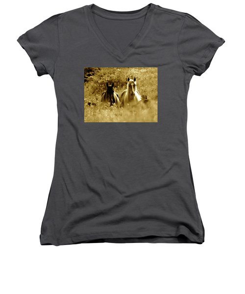 Emerging From The Farm Women's V-Neck (Athletic Fit)