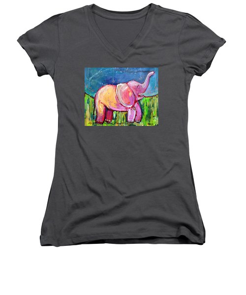 Emily's Elephant 2 Women's V-Neck