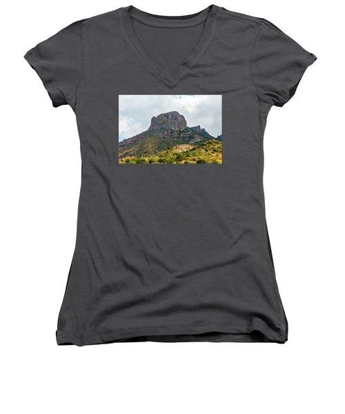 Emory Peak Chisos Mountains Women's V-Neck T-Shirt