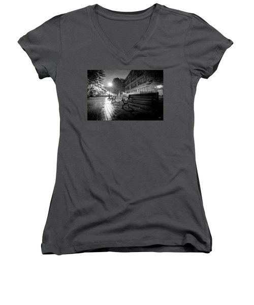 Women's V-Neck T-Shirt (Junior Cut) featuring the photograph Emptiness by Everet Regal