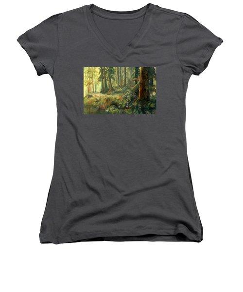Enchanted Rain Forest Women's V-Neck