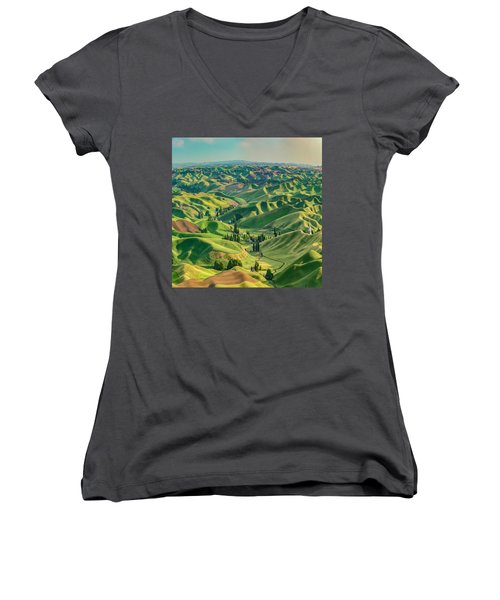 Enchanted Valley Award Winner Women's V-Neck