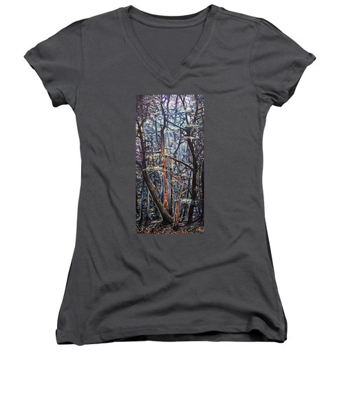 Enchanted Woods Women's V-Neck (Athletic Fit)