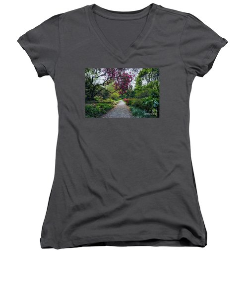 Enchanting Garden Women's V-Neck T-Shirt
