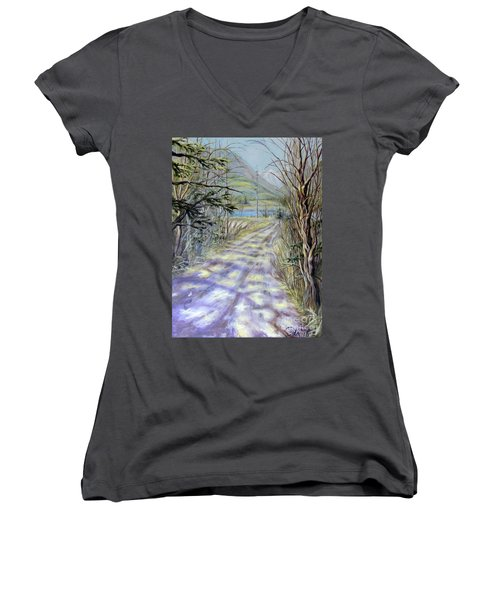 End Of Winter Women's V-Neck (Athletic Fit)