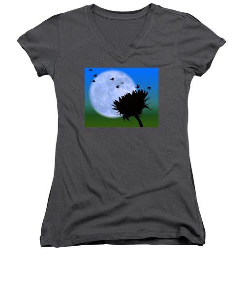 Endings . . . . . Women's V-Neck T-Shirt