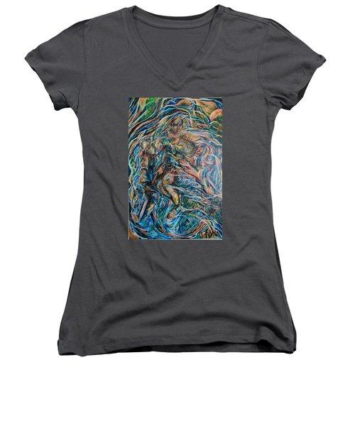 Energy Women's V-Neck T-Shirt (Junior Cut) by Dawn Fisher