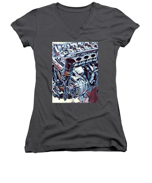 Engine  Women's V-Neck T-Shirt