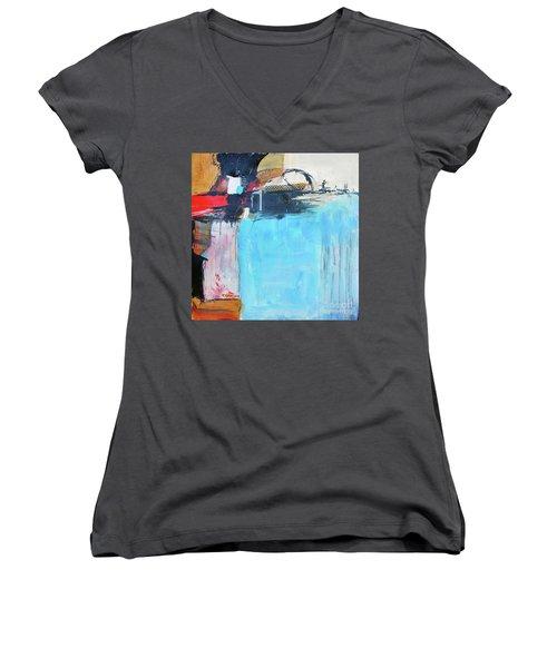 Equalibrium Women's V-Neck T-Shirt (Junior Cut) by Ron Stephens
