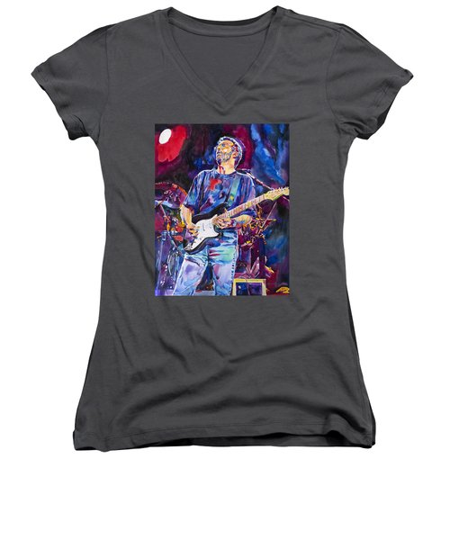 Eric Clapton And Blackie Women's V-Neck