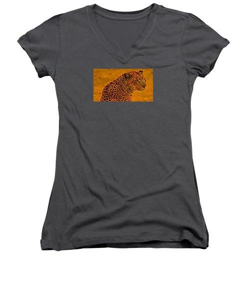 Essence Of Leopard Women's V-Neck T-Shirt