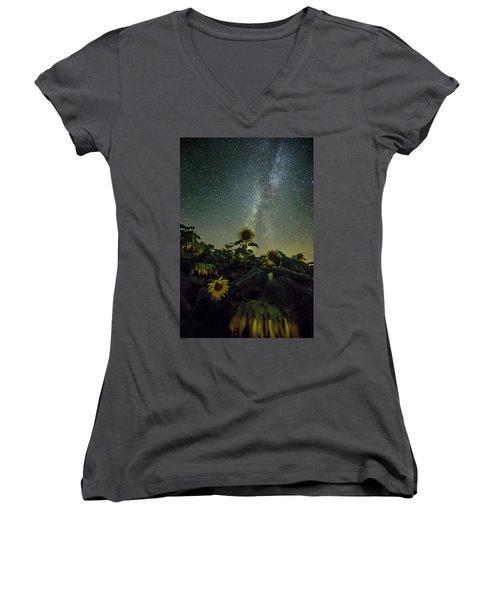 Women's V-Neck T-Shirt (Junior Cut) featuring the photograph Estelline by Aaron J Groen