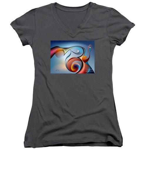 Eternal Movement - Wrapping Women's V-Neck T-Shirt