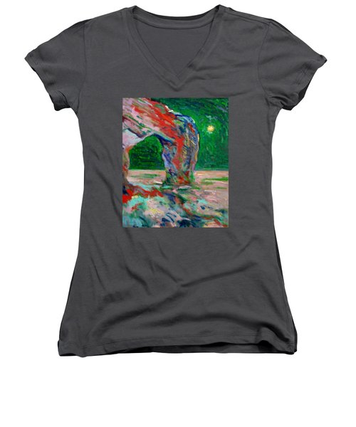 Etretat-6 Women's V-Neck T-Shirt