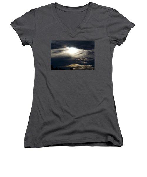 Evening Eye Women's V-Neck T-Shirt (Junior Cut) by Jason Coward