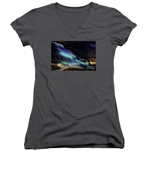 Evening Falls Women's V-Neck T-Shirt