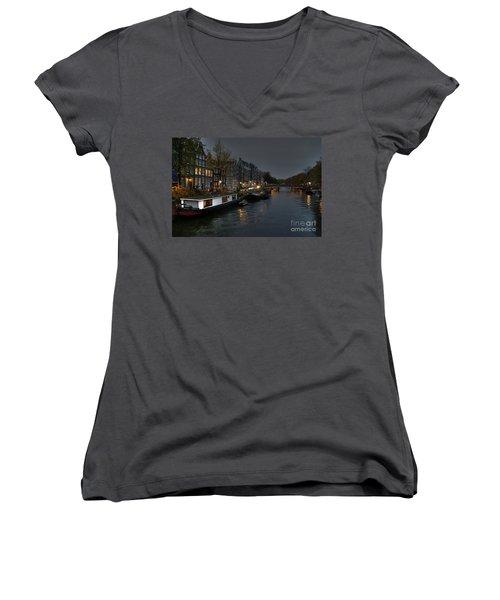 Evening In Amsterdam Women's V-Neck