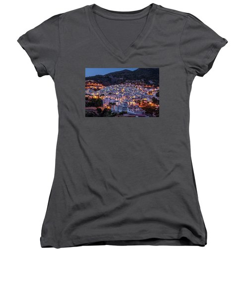 Evening In Competa Women's V-Neck