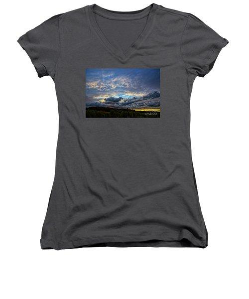 Evening Light Women's V-Neck T-Shirt
